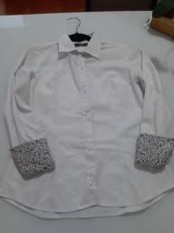 Camisa Social Feminina - Tam P / Cor Branca - Em Porto Alegre