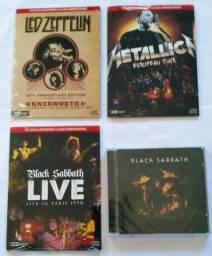 Cd Led Zeppelin-Metallica-Black Sabbath.(4 cds)