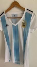Camisa feminina da Argentina