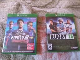 Jogo de xbox one. FIFA 19, RUGBY 15