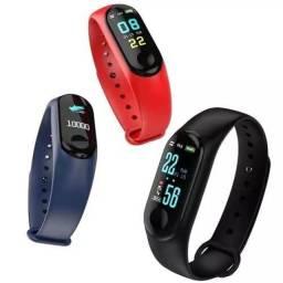 Relógio Smartwhatch Inteligente M3 Bluetooth Batimentos Passos Notificação