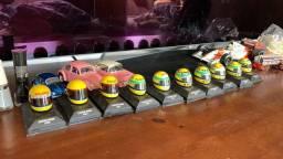 Capacete Ayrton Senna F1 Minichamps Escala 1/8 - unidade