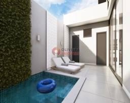 Casa em construção com 3 suítes e piscina no Terras de São Bento II