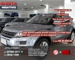 Land Rover,Evoque. 2.0 pure tech completa e linda 16v gasolina