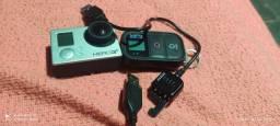 Controle remoto e câmera
