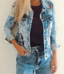 Jaqueta Jeans Customizada - Espaço Fashion