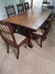 Mesa Colonial Com 8 Cadeiras