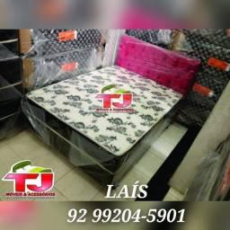 cama box casal entrega grátis +++ 2 travesseiros