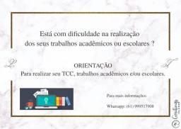 Orientações de TCC e trabalhos acadêmicos