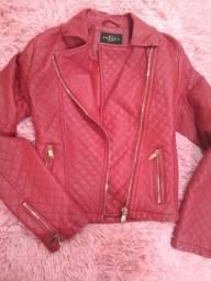 Troco jaqueta de couro M