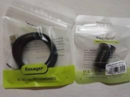 Essager Mini 20w Carregador De Carro USB Para iphone 12 Ou USB