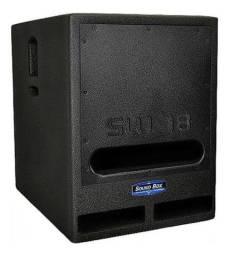 subwoofer ativo + passivo  soundbox sw-18