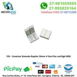 155 - Promoção - Conector Emenda Rapida 10mm 4 Vias Fita Led Rgb 5050 unidade<br><br>