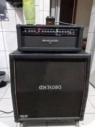 Amplificador cabeçote + caixa + footswitch