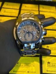 Relógio invicta magnum prata c/ preto !