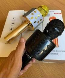Microfone karaokê Bluetooth sem fio com Bluetooth