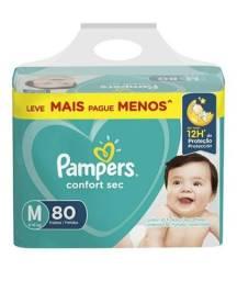 Fralda Pampers M 80 Unidades