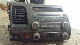 Moldura Central Do Painel Com Radio Honda Civic 2008