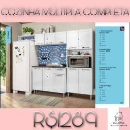 ARMÁRIO DE COZINHA MÚLTIPLA COMPLETA