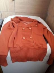 Blusa básica  tam M de lã leve $15