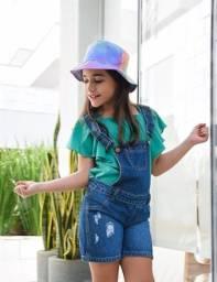 Jardineira Jeans Menina - Roupa Infantil