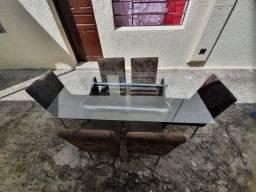 Mesa de vidro 6 lugares