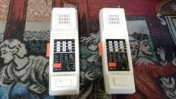 Rádio comunicador antigo, brinquedo anos 80.