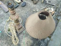 Abajur Tocheiro Antigo, Vintage, Relíquia - Não Testado, Cúpula Ruim
