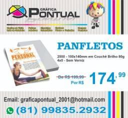 Panfleto - 14x10cm - Frente Colorida