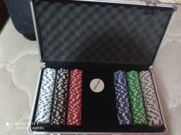 Maleta de poker 300 fichas semi nova