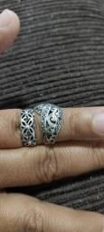 2 anéis de prata