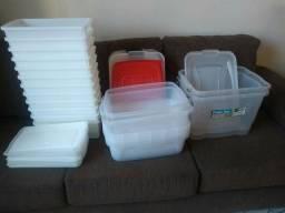 kit de potes de plastico  para armazenar alimentos