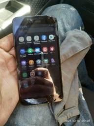 Celular j4 Samsung com a tela quebrada