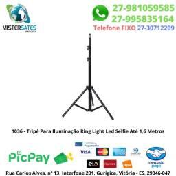 1036 - Promoção - Tripé Para Iluminação Ring Light Led Selfie Até 1,6 Metros