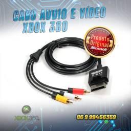 Cabo áudio e vídeo Xbox 360