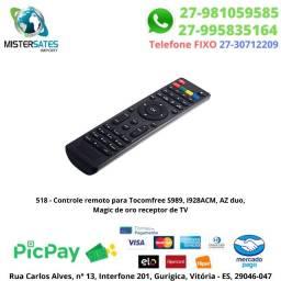 518 - Controle remoto para Tocomfree S989, I928ACM, AZ duo, Magic de oro receptor de TV<br><br>