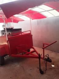 Vendo ou troco por moto, carrinho de batata frita + chapa com suporte