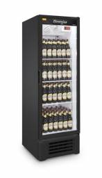 Cervejeira expositora Refrimate 400 L porta de vidro preta 110v Nova Frete Grátis