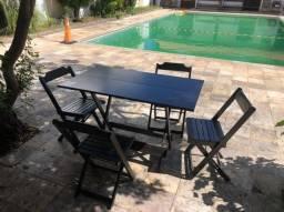 Jogo de mesas de bar 120 x 70 com 4 cadeiras