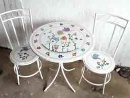 Passarinho, arara, borboleta, jardim, flor, planta mosaico