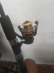 Vara de pescar completa, com isca artificial(sapinho ótimo para traíras)