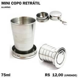 Mini Copo Retrátil de Alumínio