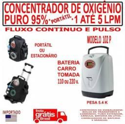 Concentrador De Oxigênio Portátil/1 Até 5 Lpm/lovego 102p