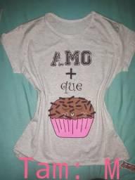 Promoção babylooks t-shirts Femininas 100% algodão 8238be04fee9a