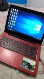 Notebook vermelho positivo