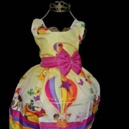 Vestido Temático Infantil Mundo Bitas - 2 anos *modelo Luxo