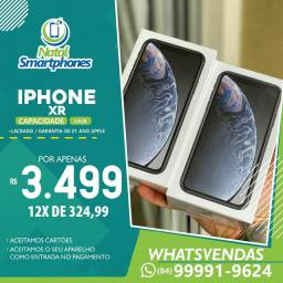 Iphone XR 64GB (LACRADO NACIONAL ANATEL) PRETO, BRANCO OU RED ( VERMELHO )