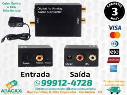 Conversor Audio Optico Digital Fibra Coaxial Rca Analógico