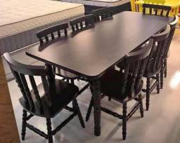 Conjunto mesa torneada