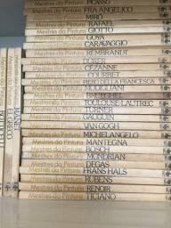 Coleção de livros dos clássicos de arte